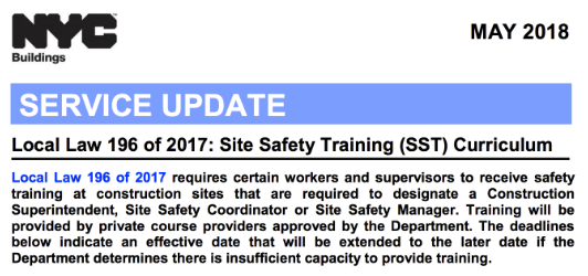 nyc construction safety law archives | tsc training academy